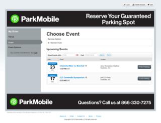 uncc.clickandpark.com screenshot