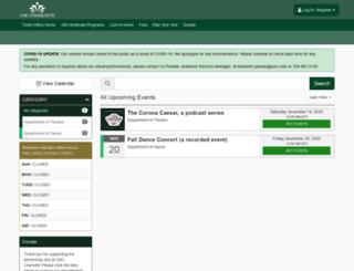 unccboxoffice.universitytickets.com screenshot