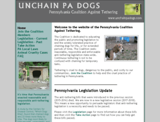 unchainpadogs.com screenshot
