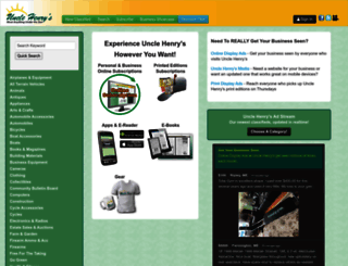 unclehenrys.com screenshot