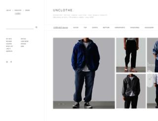 unclothe.co.kr screenshot