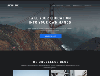 uncollege.org screenshot