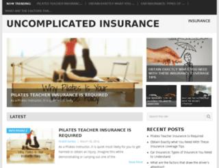 uncomplicatedinsurance.com screenshot