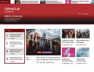 unda.ac.id screenshot