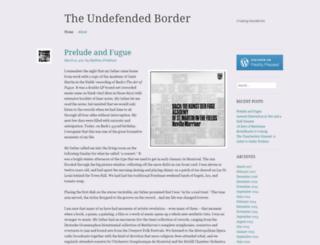 undefendedborder.wordpress.com screenshot