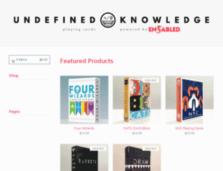 undefinedknowledge.bigcartel.com screenshot