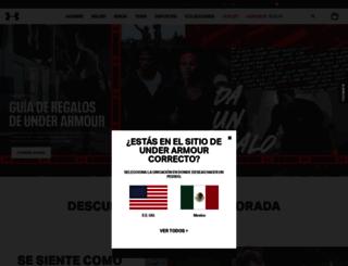 underarmour.com.mx screenshot