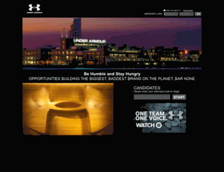 underarmour.hirevue.com screenshot