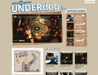 underdog.be screenshot