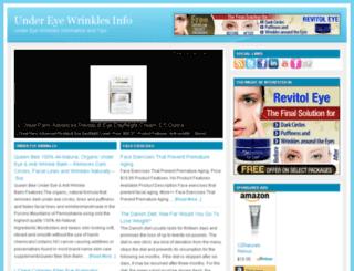undereyewrinklesinfo.com screenshot