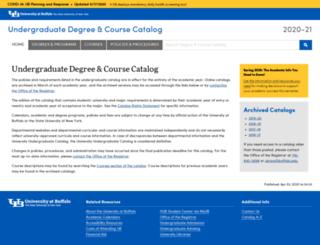 undergrad-catalog.buffalo.edu screenshot