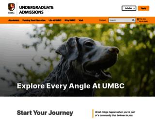 undergraduate.umbc.edu screenshot
