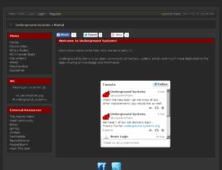 underground-systems.org screenshot