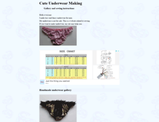 underwear.sew-ing.com screenshot