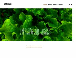 underwoodacres.com screenshot