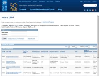 undpcareers.partneragencies.org screenshot