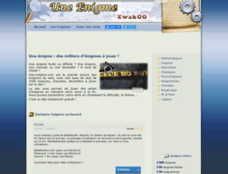 une-enigme.com screenshot