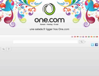 une-salade.fr screenshot