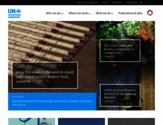unep.org screenshot