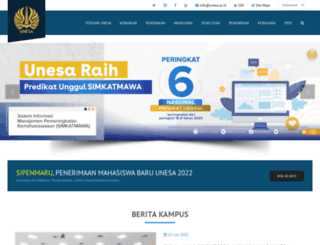 unesa.ac.id screenshot