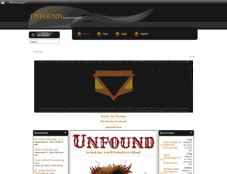 unfound.net screenshot
