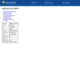 ungurys.serveriai.lt screenshot