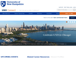 unhconnect.unh.edu screenshot