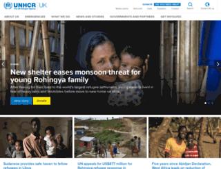 unhcr.org.uk screenshot