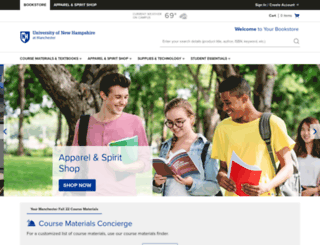 unhm.bncollege.com screenshot