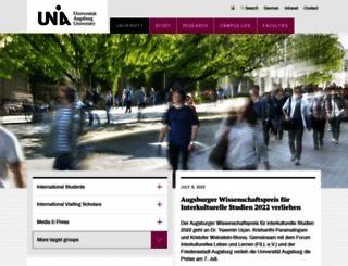 uni-augsburg.de screenshot