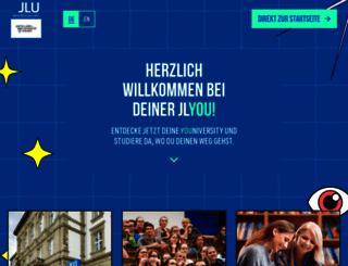 uni-giessen.de screenshot