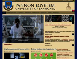 uni-pannon.hu screenshot