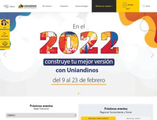 uniandinos.org.co screenshot