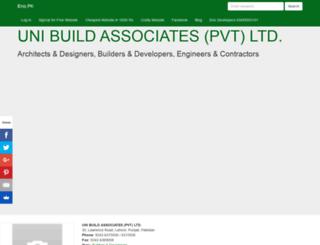 unibuildassociatespvtltd.enic.pk screenshot