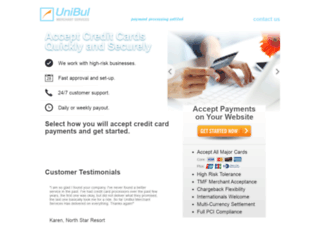 unibulmerchantservices.com screenshot