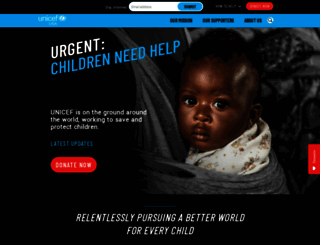 unicefusa.org screenshot