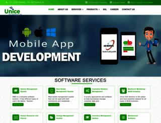 unicesoftware.com screenshot