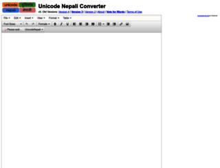 unicodenepali.com screenshot