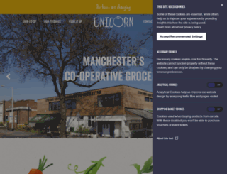 unicorn-grocery.co.uk screenshot
