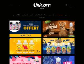 unicornvape.com screenshot