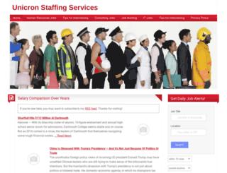unicronstaffing.com screenshot