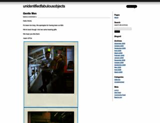 unidentifiedfabulousobjects.wordpress.com screenshot