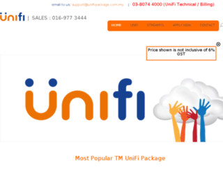 unifi-package.com.my screenshot