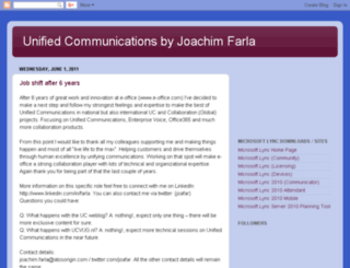 unified-communications.blogspot.com screenshot