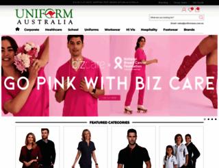 uniformaustralia.com.au screenshot