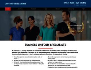 uniformbrokers.co.nz screenshot