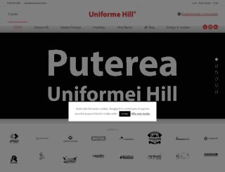 uniforme-hill.ro screenshot