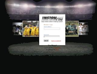 uniformpro.soccerloco.com screenshot