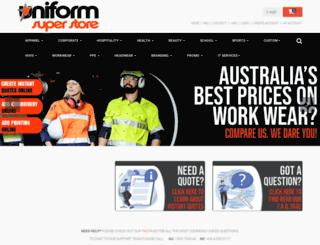 uniforms.com.au screenshot