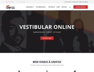 unifoz.com.br screenshot